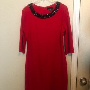 LeslieFay Red Midi Dress
